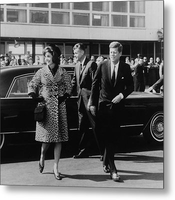 Escorted By President Kennedy Metal Print by Everett