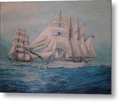 Esmerelda And The Sagres Tall Ships Metal Print