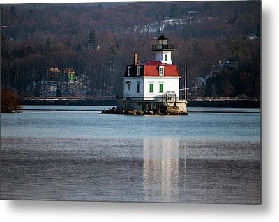 Esopus Lighthouse In December Metal Print by Jeff Severson