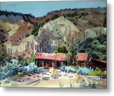 Espanola On The Rio Grande Metal Print by Donald Maier