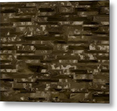 Espresso Brown Marble Collection Metal Print by Lee Ann Asch