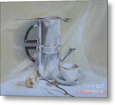 Espresso For One          Copyrighted Metal Print by Kathleen Hoekstra