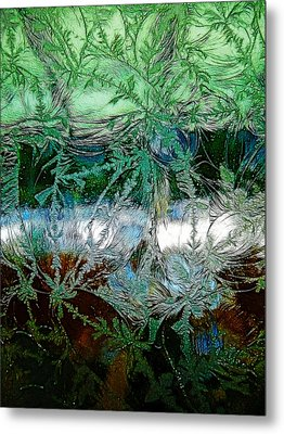 Etched Glass Metal Print