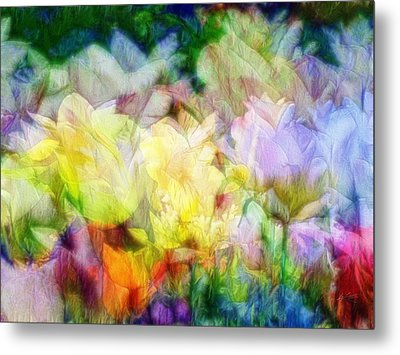 Ethereal Flowers Metal Print