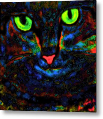 Ethical Kitty See's Your Dilemma Light 2 Dark Version Metal Print