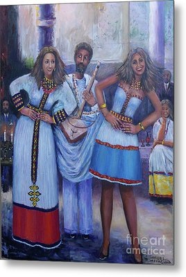 Ethiopian Ladies Shoulder Dancing Metal Print