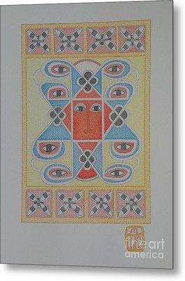 Ethiopian Cherub Talismen Scroll Metal Print