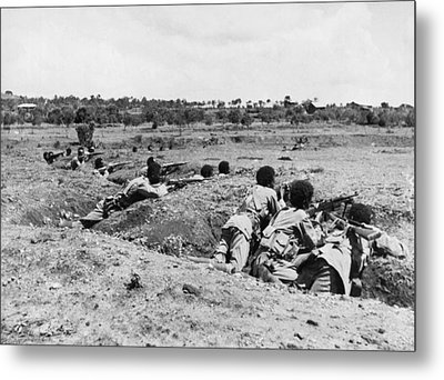 Ethiopians Firing At Italians Metal Print