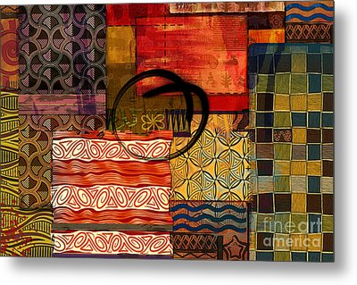 Ethnic Abstract Metal Print by Bedros Awak