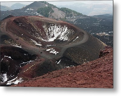Etna, Red Mount Crater Metal Print by Bruno Spagnolo
