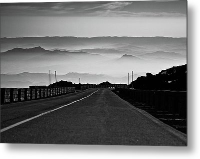 Etna Road Metal Print by Bruno Spagnolo