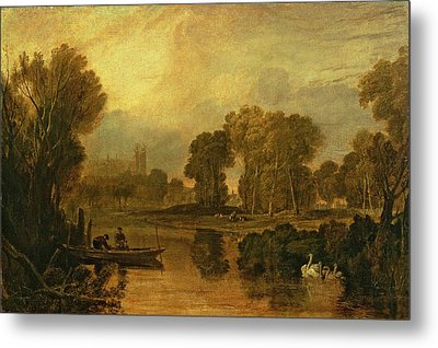 Eton College From The River Metal Print
