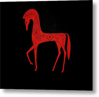Etruscan Horse Metal Print by Stephanie Moore