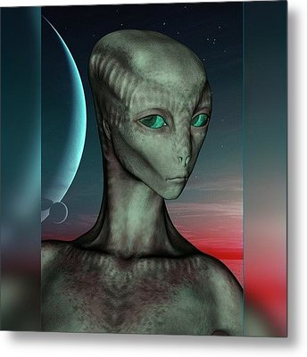 Alien Girl Metal Print