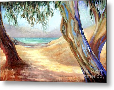 Metal Print featuring the painting Eucalyptus Beach Trail by Michael Rock