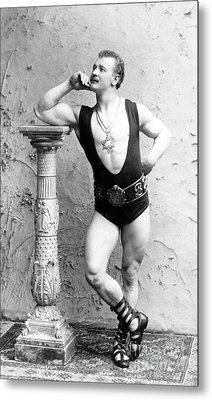 Eugen Sandow, Father Of Modern Metal Print by Science Source