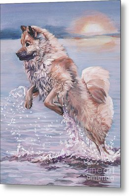 Metal Print featuring the painting Eurasier In The Sea by Lee Ann Shepard