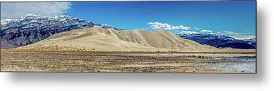 Metal Print featuring the photograph Eureka Dunes - Death Valley by Peter Tellone