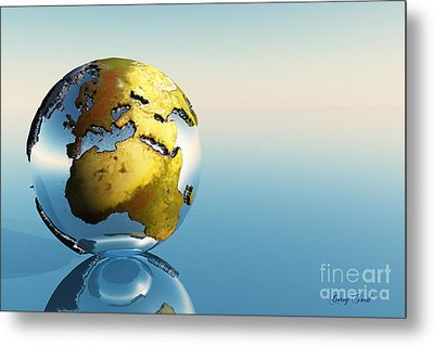 Europe And Africa Metal Print by Corey Ford