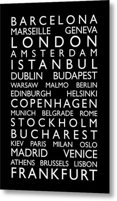 Europe Cities Bus Roll Metal Print by Michael Tompsett