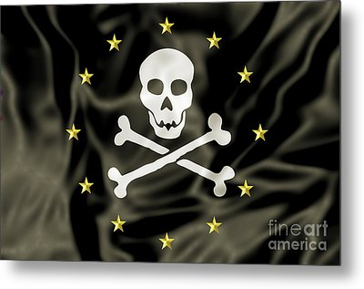 Europe Pirate Flag Metal Print by Benny Marty