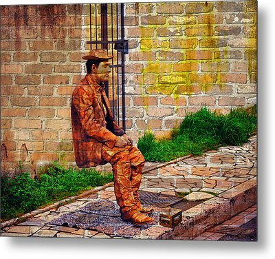 European Street Performer Metal Print by Digital Art Cafe