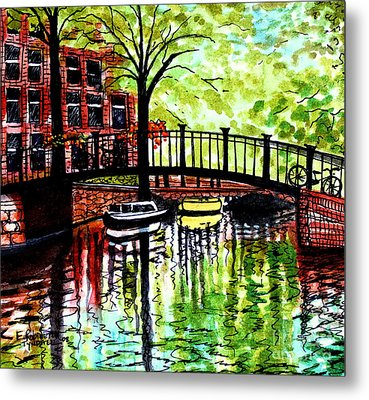 Metal Print featuring the painting European Travels by Elizabeth Robinette Tyndall