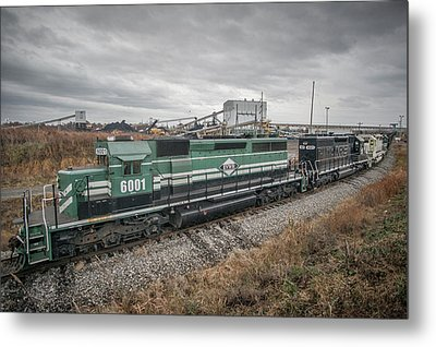 Evansville Western Railway At Warrior Coal With 6001 Nebo Ky Metal Print by Jim Pearson