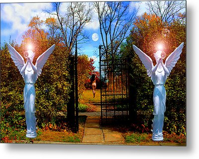 Eve In The Garden Of Eden Metal Print by Michael Rucker