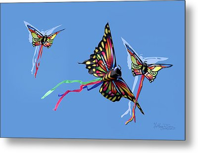 Even Butterflies Have Guardian Angels Metal Print by Anthony R Socci