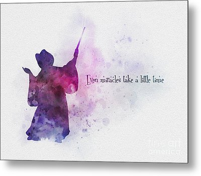 Even Miracles Take A Little Time Metal Print by Rebecca Jenkins