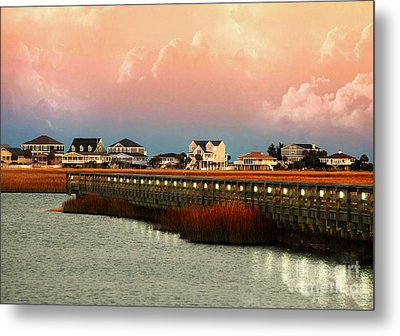 Evening Along The Marshwalk Metal Print