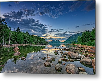 Evening At Jordan Pond Metal Print by Rick Berk