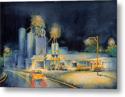 Evening At Lindner Feed And Mill Metal Print by Virgil Carter
