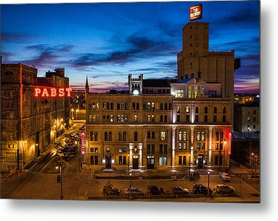 Evening At Pabst Metal Print by Bill Pevlor