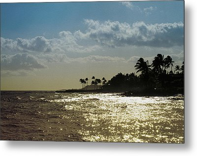 Evening At Poipiu Kauai Metal Print