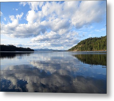 Evening At Priest Lake Metal Print by Feva  Fotos