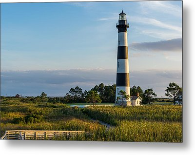 Evening At The Lighthouse Metal Print by Gregg Southard