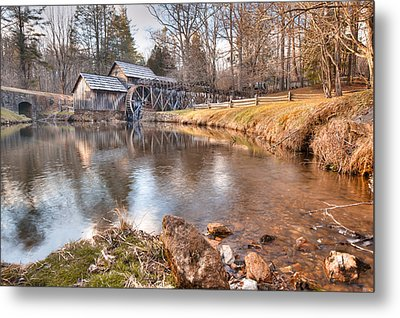 Evening At The Mabry Mill Metal Print by Gregory Ballos