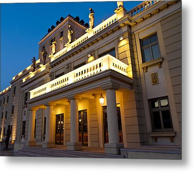Evening At The National Theater Metal Print by Rae Tucker