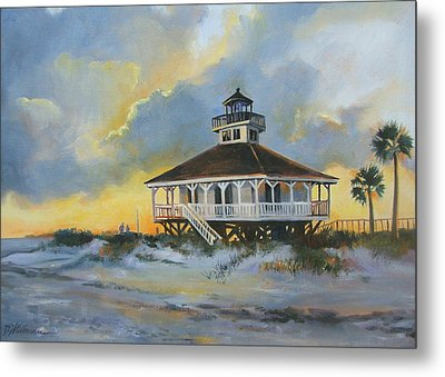 Evening  Boca Grande Light Metal Print by Dianna  Willman