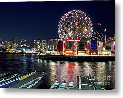 Evening By Science World Vancouver Metal Print by Maria Janicki