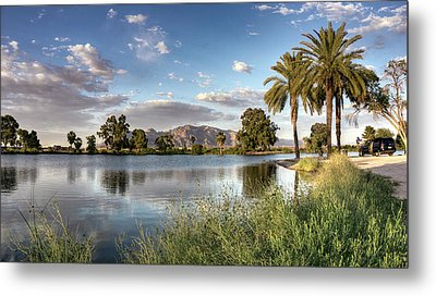 Metal Print featuring the photograph Evening Fishing by Lynn Geoffroy