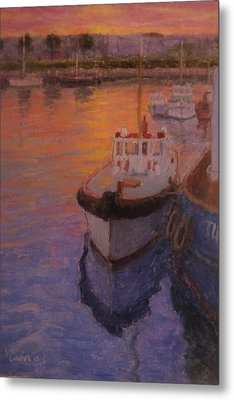 Evening Gisbourne Harbour Metal Print by Terry Perham