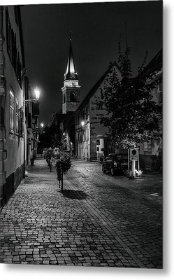 Metal Print featuring the photograph Evening In Bergheim by Alan Toepfer