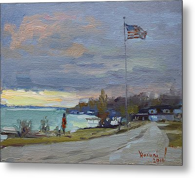 Evening In Gratwick Waterfront Park Metal Print by Ylli Haruni