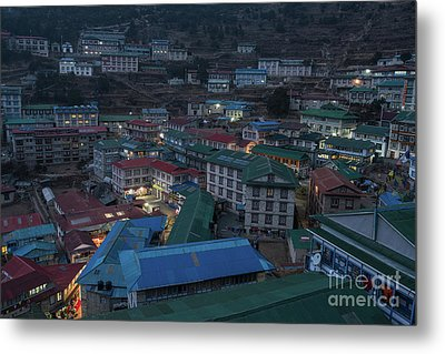 Metal Print featuring the photograph Evening In Namche Nepal by Mike Reid