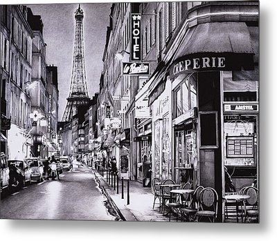 Evening In Paris Metal Print by Andrey Poletaev
