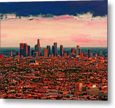Evening In The City Of The Angels Metal Print