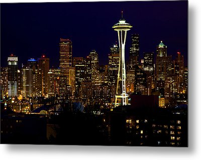 Evening Lights Metal Print by James Marvin Phelps